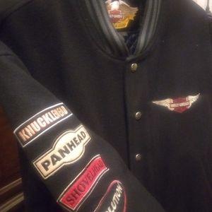 Harley Davidson Wool Varsity Jacket